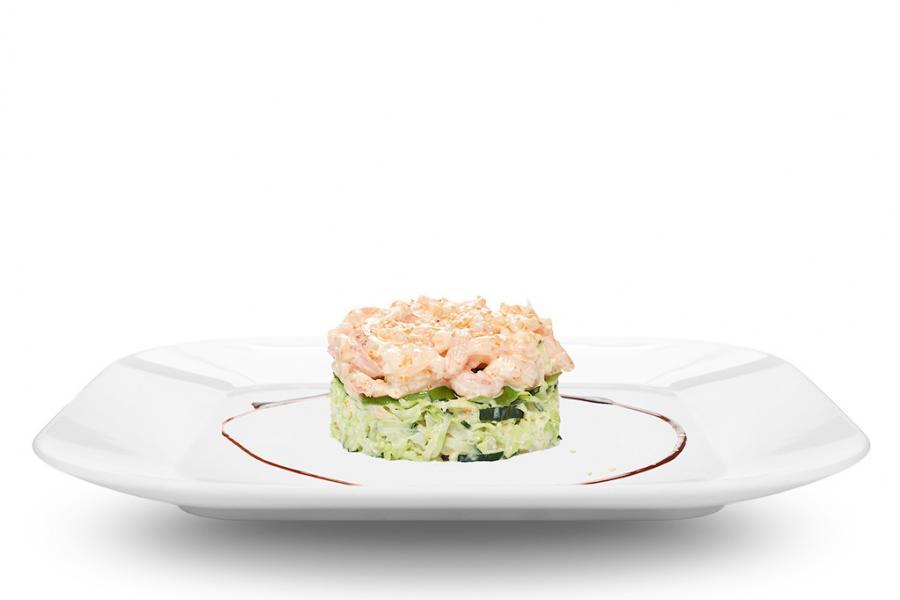 Салат с креветками и авокадо(490 руб.)