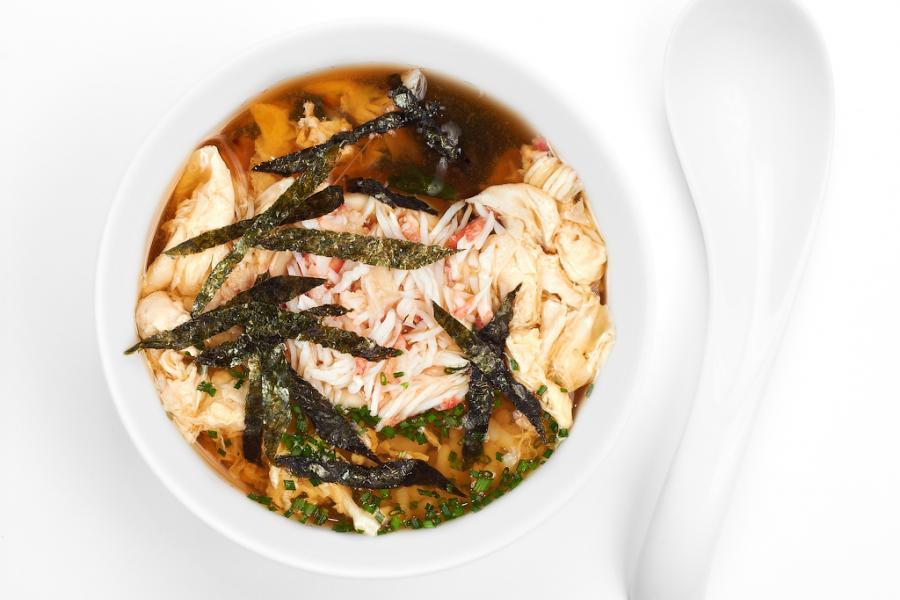 Крабовый суп(460 руб.)