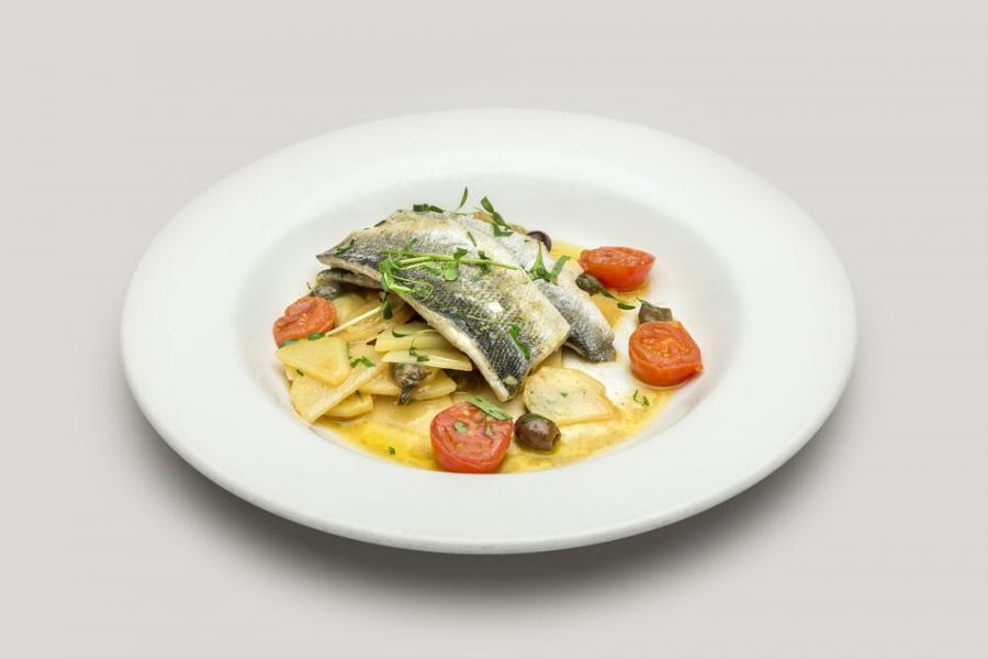 филе сибаса по-сицилийски(990 руб.)
