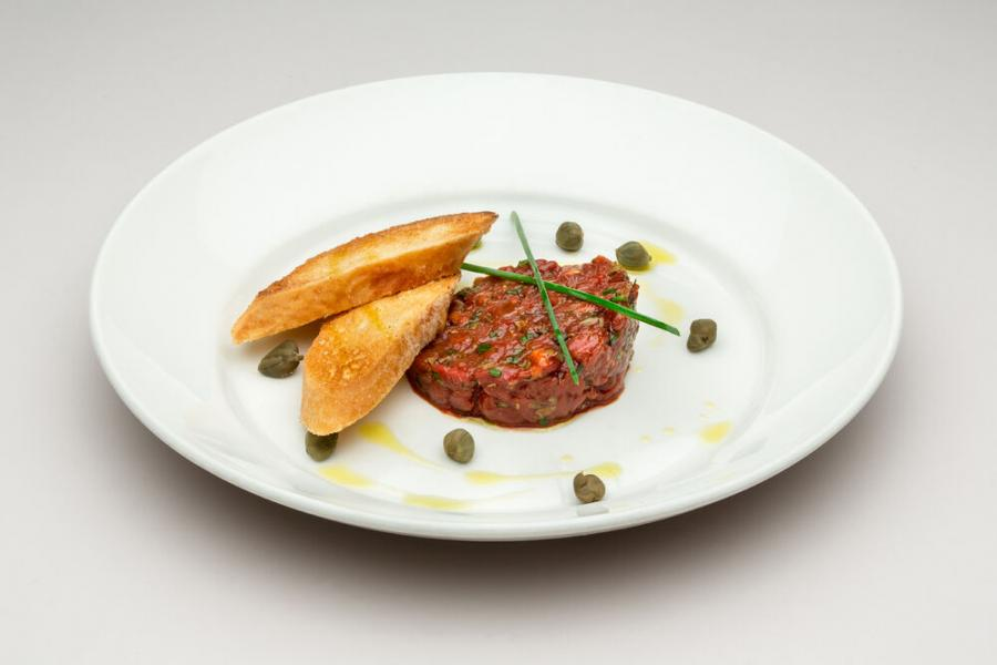 тартар из говядины(790 руб.)