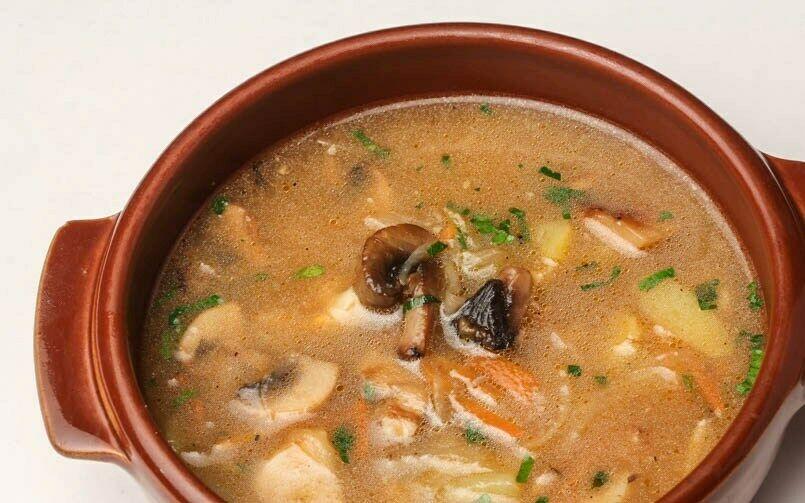 грибной суп(360 руб.)