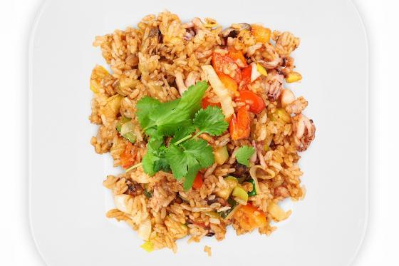 Рис с морепродуктами(390 руб.)