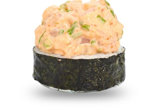 Spicy ролл с острым окунем и зеленым луком(450 руб.)