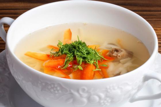 Суп-лапша домашняя с потрошками (260 руб.)