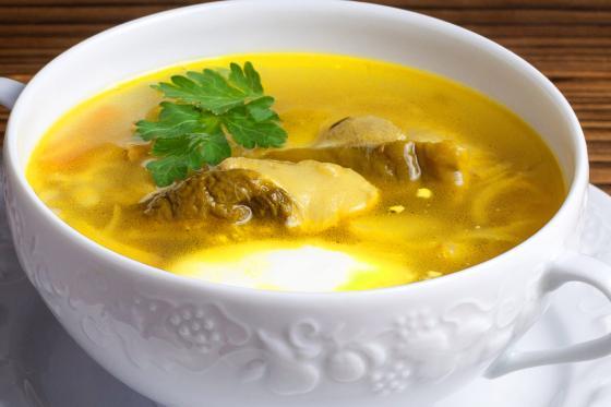 Суп из белых лесных грибов (300 руб.)