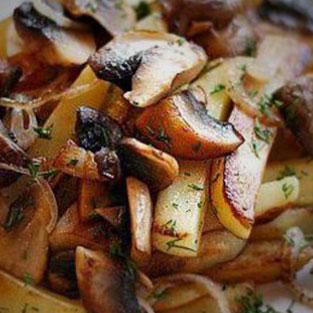 Картофель жареный с грибами(250 руб.)